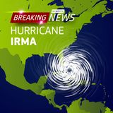 Breaking news TV, realistic Hurricane cyclone vector illustration on USA map, typhoon spiral storm logo on green world. Map, spin vortex illustration on black Stock Images