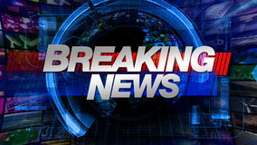 Breaking news - TV-sändningdiagramtitel vektor illustrationer