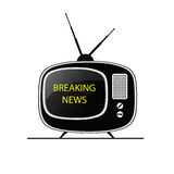 Breaking news tv vector Stock Image