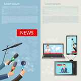 Breaking news vector banner Royalty Free Stock Photography