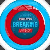Breaking News Vector Opener. Broadcast Open Scene on Glowing Earth Planet Background Stock Photos