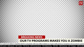 Breaking news vector template. Business communication background. For media design. Empty field for your news. Two lines of text, a title and an warning  ` Royalty Free Stock Images