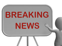 Breaking News Whiteboard Shows Major Developments And Bulletin Royalty Free Stock Images
