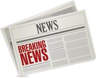 Breaking newsillustrationdesign Arkivbilder