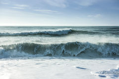 Breaking ocean waves Stock Image