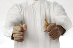 Breaking pencil Stock Images