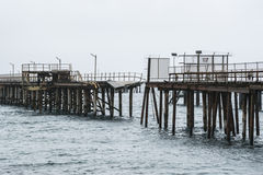 Breaking Point - Old Rapid Bay Jetty, South Australia Royalty Free Stock Photography