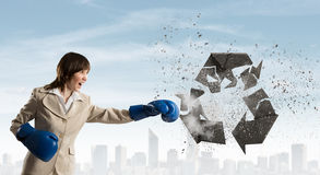 Breaking recycle concept Royalty Free Stock Photography