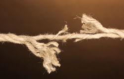 Breaking rope stock photos