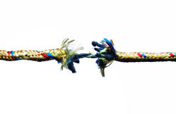 Breaking rope Royalty Free Stock Photography