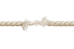 Breaking rope Stock Image
