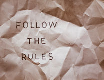 Breaking the rules Royalty Free Stock Images