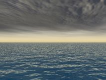 Breaking Storm Over Sea. Breaking Storm on empty horizon over ocean Royalty Free Stock Photography