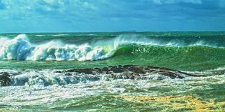 Breaking Surf Seascape. Royalty Free Stock Photos