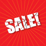Breaking text SALE Royalty Free Stock Images
