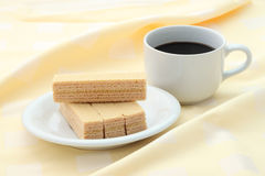 Breaking time meal focus wafer. Stock Photo