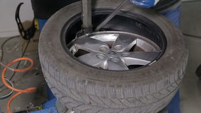 Breaking The Tire Off From The Rim stock video