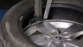 Breaking The Tire Off From The Rim. Repairing Car stock footage