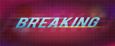 Breaking title on abstract background. Vector illustration Stock Image