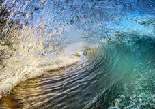 Breaking Tropical Ocean Wave. Beautifully colored breaking ocean wave in Costa Rica Stock Photos