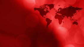 Breaking red animated tech news intro background. Breaking tv news world map intro concept, abstract background stock video