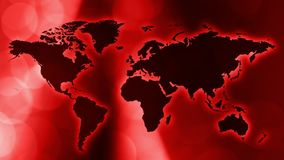 International red intro news animated wallpaper. Breaking tv news world map intro concept, abstract background stock footage
