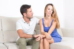 Breaking up with boyfriend Stock Photo