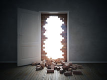 Breaking through the wall Royalty Free Stock Photography