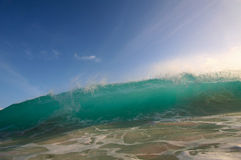 Breaking wave. A big wave breaking royalty free stock image