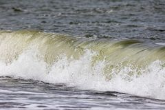 Free Breaking Wave Action. Force Of Nature Providing Renewable Energy Royalty Free Stock Photography - 100799177
