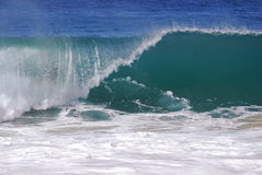 A breaking wave at Aliso Beach in Laguna Beach, California. Stock Photography