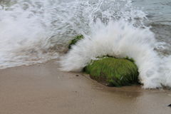 Breaking wave of Baltic Sea, Poland Royalty Free Stock Photography