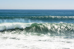 Breaking wave at beach Stock Photo