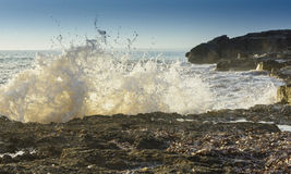 Breaking wave closeup Stock Photo