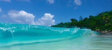 Breaking wave indian ocean stock photography
