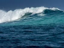 Breaking wave, sea storm royalty free stock image