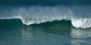 Breaking wave section Stock Photography