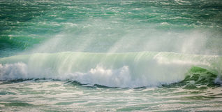 Breaking wave with spray Stock Image