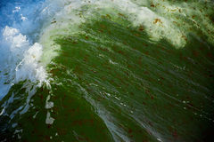 Breaking wave in stormy sea Royalty Free Stock Photography