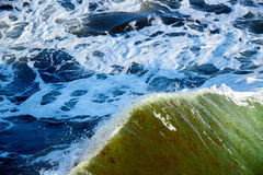 Breaking wave in stormy sea Stock Image