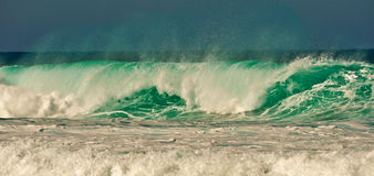 Breaking Wave. S, On north coast, Fuerteventura, Canary Islands, Spain Royalty Free Stock Photos