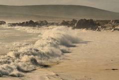 Breaking waves. On the beach in South Africa Stock Image
