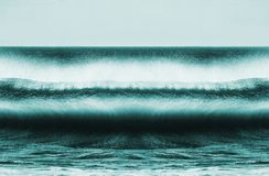 Breaking waves royalty free stock photos