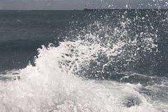 Breaking waves foam splashing sea Stock Photography