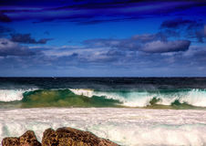 Breaking waves of the Indian Ocean at the Wild Coast of South Af Royalty Free Stock Photo