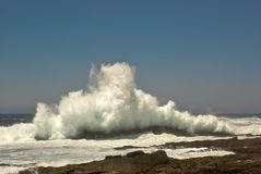 Breaking waves on ocean shore. Of South Africa Stock Photography