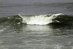 Breaking Waves In Ocean Water. Ocean wave breaking near coast Royalty Free Stock Images