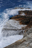 Breaking of Waves. At Watson's Bay Cliff in Sydney NSW Australia stock photos