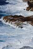 Breaking of Waves. At Watson's Bay Cliff in Sydney NSW Australia Royalty Free Stock Image