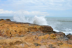 Breaking Waves - Storm On The Beach Stock Photography